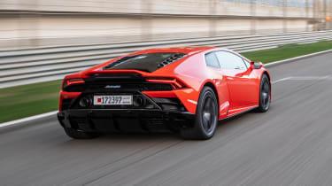 Lamborghini Huracan Evo - rear track