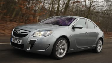 Vauxhall Insignia VXR hatchback front tracking