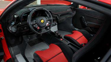 Ferrari 458 Speciale front interior