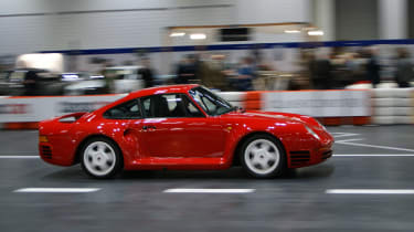 This Porche 959 was found running up the artificial road in the venue - what a sight. As you have probably noticed by now, it's one of many, many red cars on display...