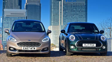 Ford Fiesta Vignale vs MINI Cooper 5dr footer