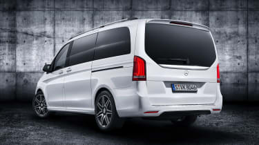 Mercedes V-Class facelift - studio rear white