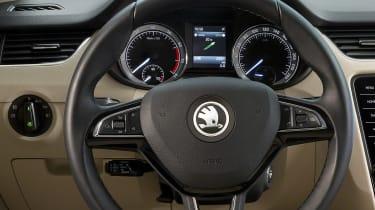 New 2017 Skoda Octavia facelift detail cabin