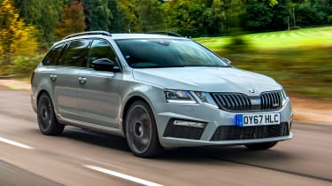 Skoda Octavia Estate undercover police car - front tracking