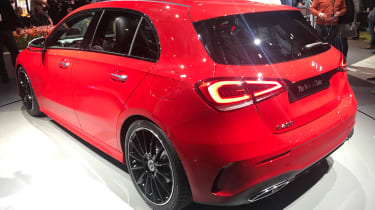 New Mercedes A-Class - reveal rear red