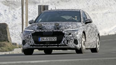 Audi A3 spied - front cornering