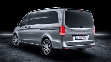 Mercedes V-Class facelift - studio grey rear