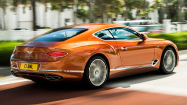 Bentley Continental GT V8 - coupe rear tracking