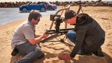 Photographers on sand