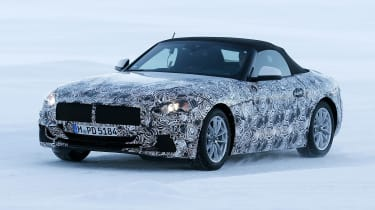 BMW Z4 spy shot front quarter