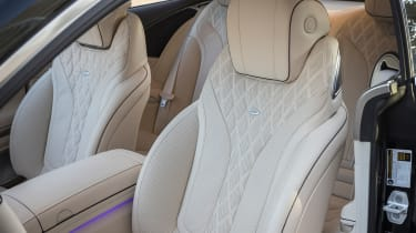 Mercedes S-Class coupe - front seats