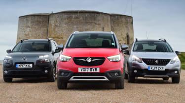 Vauxhall Crossland X vs Citroen C4 Cactus vs Peugeot 2008 - teaser