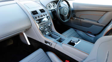 The interior is simliar to current range Aston Martin models.