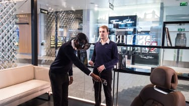 DS Westfield store - virtual reality