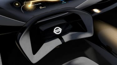 Nissan IMQ concept - steering wheel detail