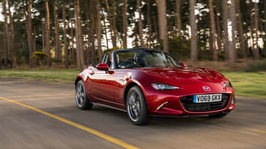 The concept behind the Mazda MX-5 Roadster is very much derived from the classic British sports cars of the 50's and 60's. It used to share design influences with them too but the latest models have ditched the retro for a more modern look.