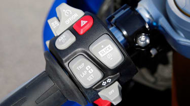 BMW S1000RR Sport controls