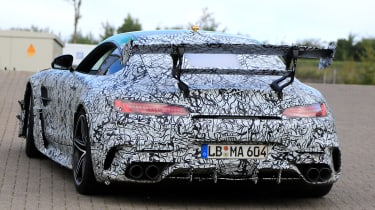 Mercedes AMG GT R Black Series - rear tracking spy
