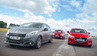 Peugeot 208 vs Mazda 2 and Hyundai i20