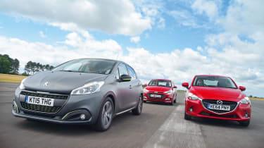 Peugeot 208 vs Mazda 2 and Hyundai i20