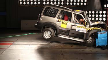 Mahindra Scorpio crash test
