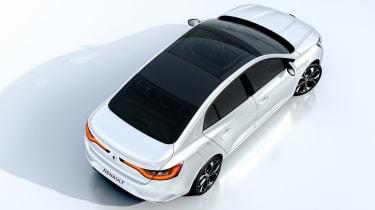 New Renault Megane Grand Coupe - studio overhead