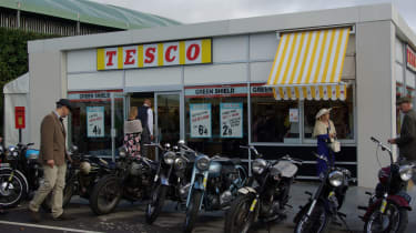 This old-style Tesco shop is a staple at Goodwood, giving showgoers a taste of past supermarkets.