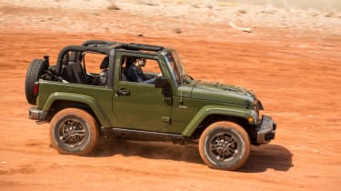 Jeep Wrangler 75th Anniversary - side off-road