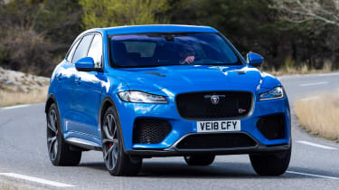 Jaguar F-Pace SVR - front action