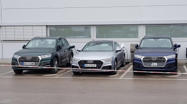 New Audi Q5 e-tron and A7 e-tron wide