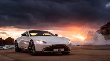 Aston Martin Vantage - front static dusk