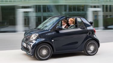 Smart ForTwo and ForFour Brabus cabrio side
