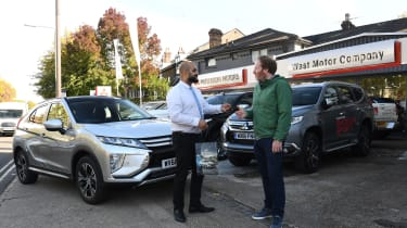Mitsubishi Eclipse Cross - handing over the keys