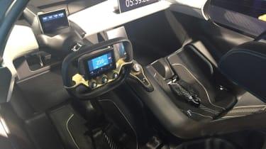 NextEV NIO EP9 electric hypercar  - interior reveal