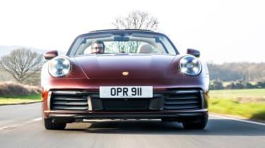 Porsche 911 Targa 4S Heritage Design Edition - full front action