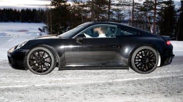 Porsche 911 spy shot side