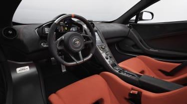 McLaren MSO R Spider steering wheel and dashboard