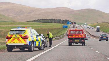 Police on motorway