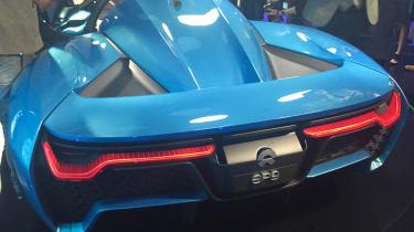 NextEV NIO EP9 electric hypercar - full rear reveal
