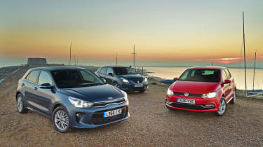 Kia Rio vs Volkswagen Polo vs Suzuki Baleno - header
