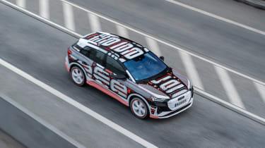 Audi Q4 e-tron prototype - above