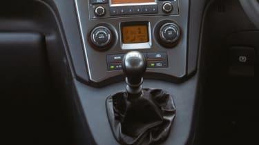 Kia Carens mpv interior detail