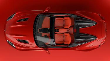 Aston Martin Vanquish Zagato Speedster - above