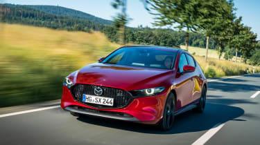Mazda 3 SkyActiv-X - front tracking