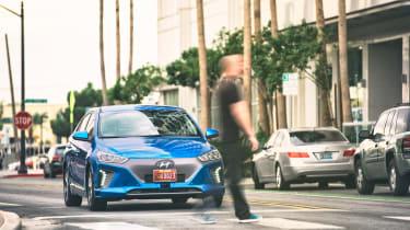 Hyundai Ioniq autonomous - full front action