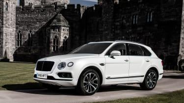 Bentley Bentayga Diesel - Ice white 2017 front quarter