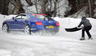 Bentley ski joring