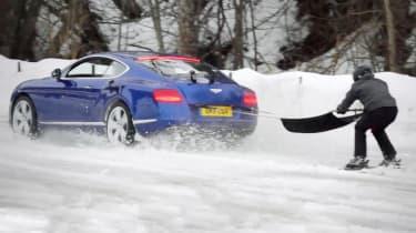 Bentley ski joring