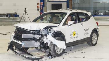 Seat Arona- Frontal Offset Impact test - after crash