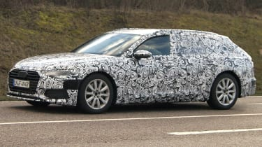 Audi A6 Avant spies side front